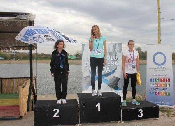 Pobednica polumaratona: Biljana Vlačić