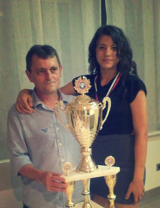Trener Dragan Lazarov i Anđela Mesaroš