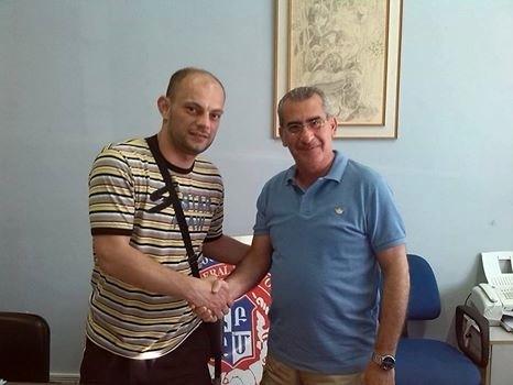 Davor Stanković (levo) na Kipru