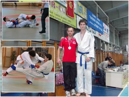 Nenad Čokulov (beli kimono) na pobedničkom postolju