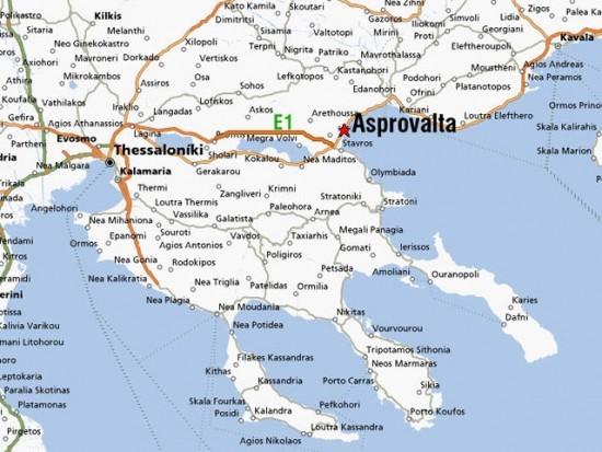 karta grcke putevi Severna Grčka   1. deo: Stavros, Vrasna, Asprovalta karta grcke putevi