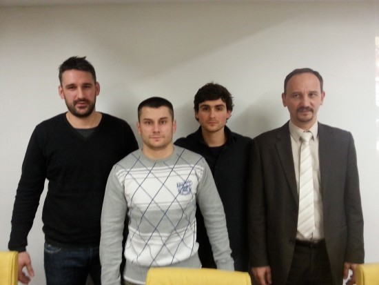 Predsednik Nenad Janjić (desno) sa trenerima
