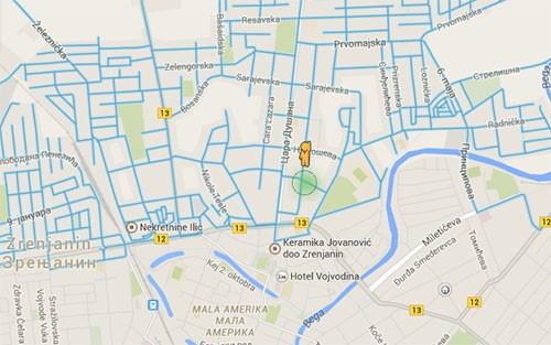 mapa zrenjanina Zrenjanin na Google Street View
