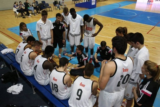 Košarkaeal Madrida u Kristalnoj dvorani. Foto: Stanojević