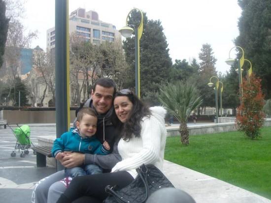 Podrška porodice: Rajčević sa suprugom i sinom u Bakuu