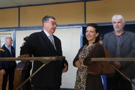 Marinika Tepić u društvu direktora SD Bečkerek 1825, Slavoljuba Grozdanova