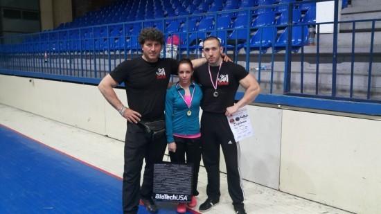 Seka i Vanja sa trenerom Miodragom