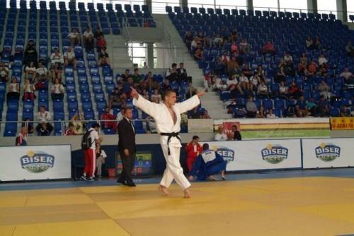 Radost: Sarić proslavlja trijumf posle meča za bronzu