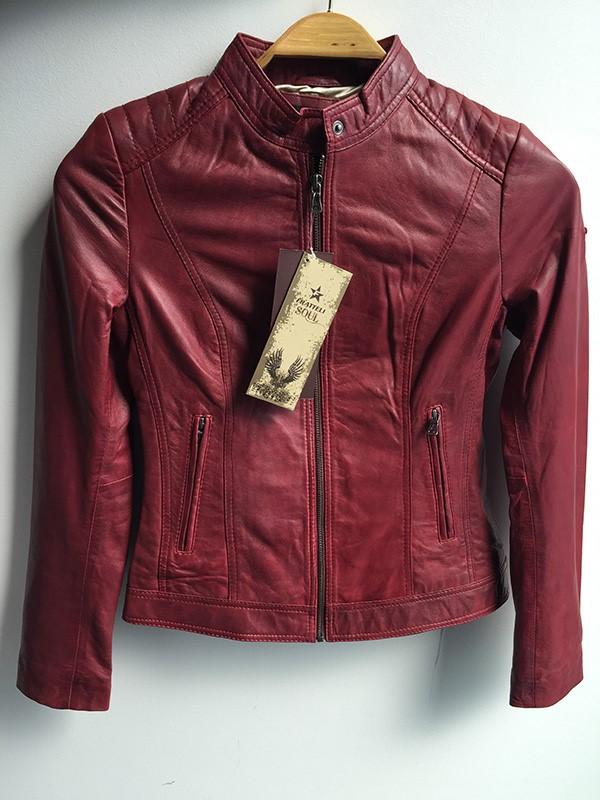 frateli-zenska-kozna-crvena-jakna