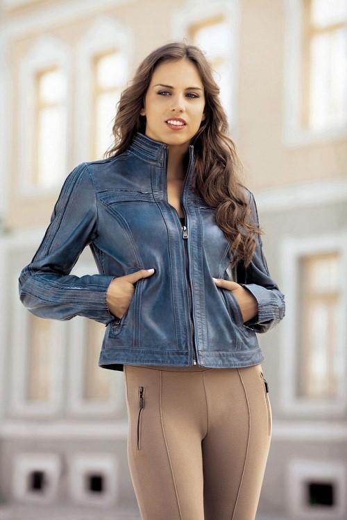 plava zenska kozna jakna 11
