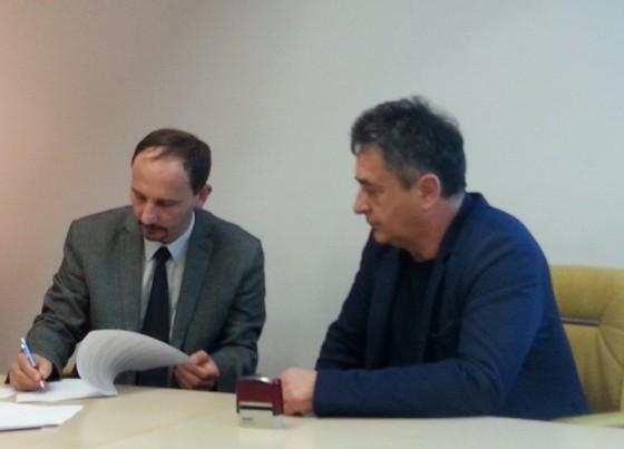 Potpisivanje sponzorskog ugovora: Nenad Janjić i Milenko Broljin