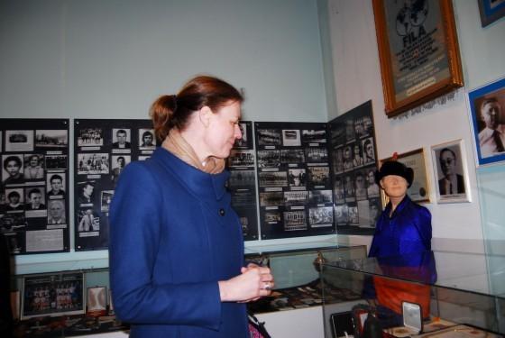 Klaudija Bokel u Muzeju sporta