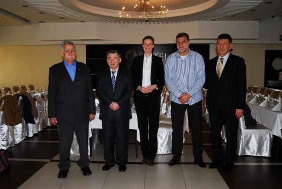 Olimpijci iz Zrenjanina sa olimpijkom iz Nemačke: Simić, Vujin. Klaudija Bokel, Rnić i Stanulov