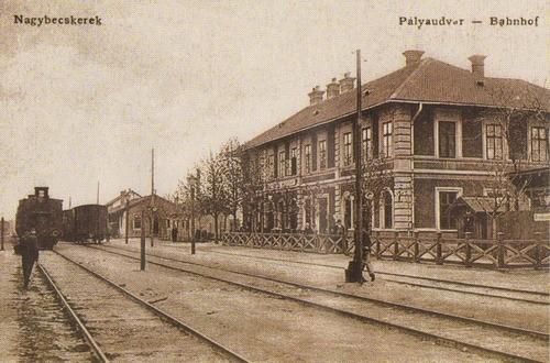 """Železnička stanica ,,Obala Begeja"""" u Velikom Bečkereku, početkom 20. veka"""