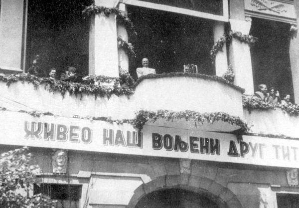 Tito na balkonu 1952