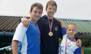 Osvojio pet medalja: Bogdan Kovačević (u sredini)