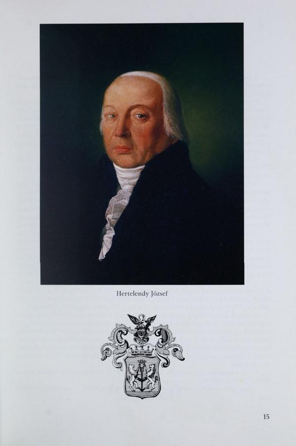 Portret i plemićki grb Jozefa Hertelendija Starijeg (176?-1839), velikog župana Torontalske županije od 1807. do 1809.