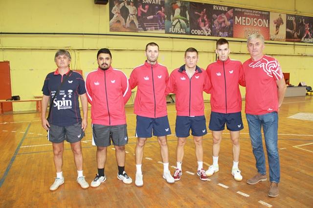 Trener Žarko Zakić, Mohamed Abas, Lorencio Lupulesku, Nikola Strugarević, Ilija Majstorović i Dmitar Majstorović
