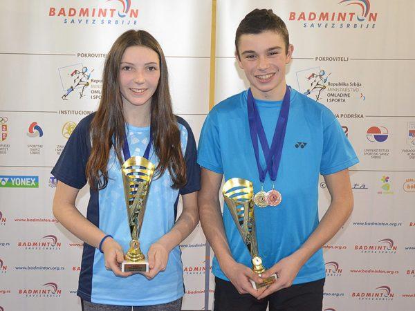 Brat i sestra sa zlatnim peharima: Danica i Aleksa Stanisavljev