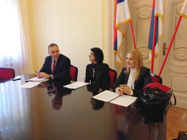Radaković i Vujin sa Ljubom Travicom, zamenicom predsednika Skupštine grada
