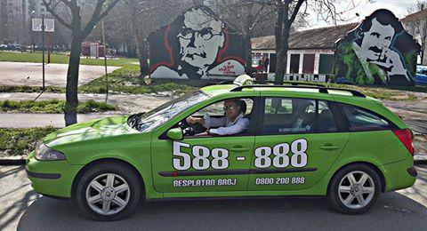 zeleni halo taksi