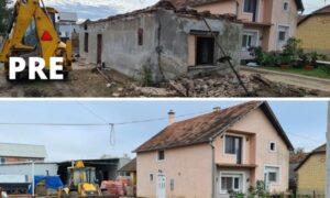 pre i posle rušenje kuće